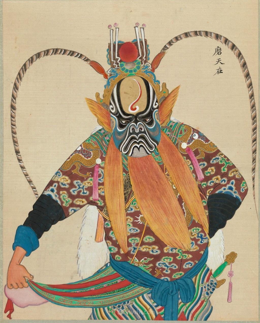 京剧人物磨天在脸谱图片大全