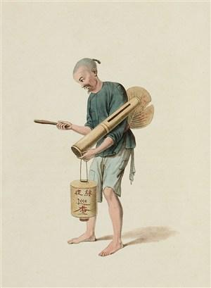 古代人物夜巡人生活绘画图片