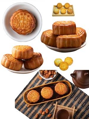 火腿肉类美食月饼PNG图片