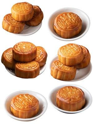 小碟月饼PNG美食图片