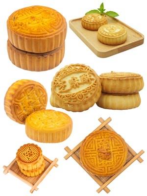 芝麻酥饼月饼PNG图片