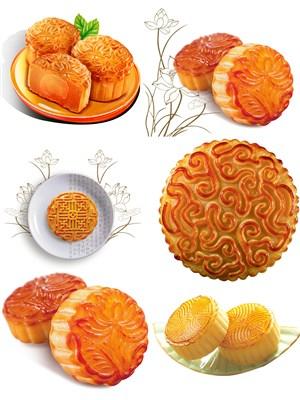 美味月饼PNG素材图片