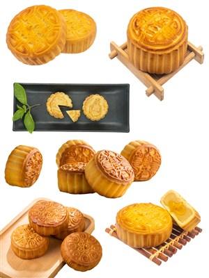 高清传统美食PNG月饼中秋节图片