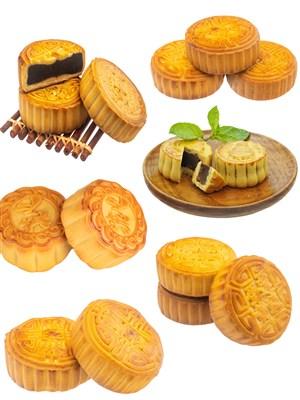 豆沙月饼PNG图片