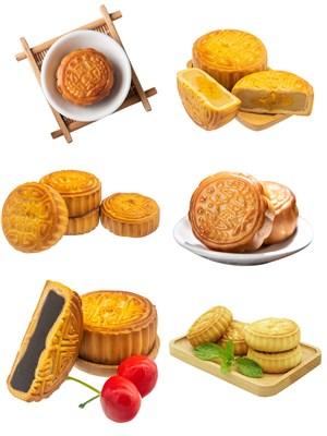 豆沙莲蓉传统小点心PNG月饼图片