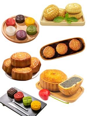 传统美食PNG月饼糕点中秋节图片