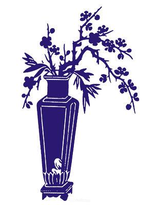 方形装饰陶瓷花瓶国粹青花瓷中国风图片