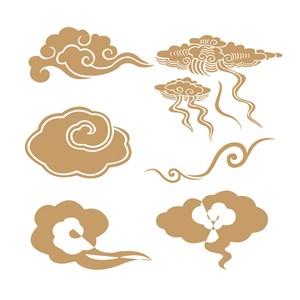 中国风素材6种吉祥云纹矢量素材