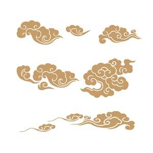 中式传统吉祥图案矢量云纹素材
