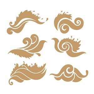 吉祥图案6种中式传统云纹矢量素材
