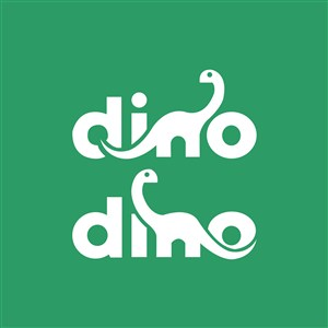 恐龙字母标志图标服装矢量logo