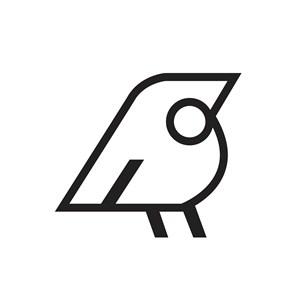 线性鸟标志图标服装品牌矢量logo素材