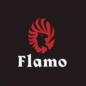 女人头火焰标志图标矢量logo素材