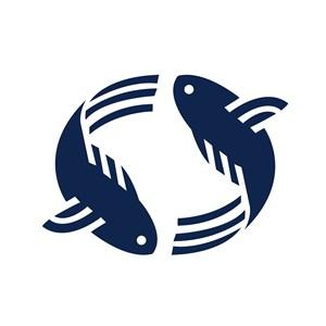 鱼标志图标矢量logo素材