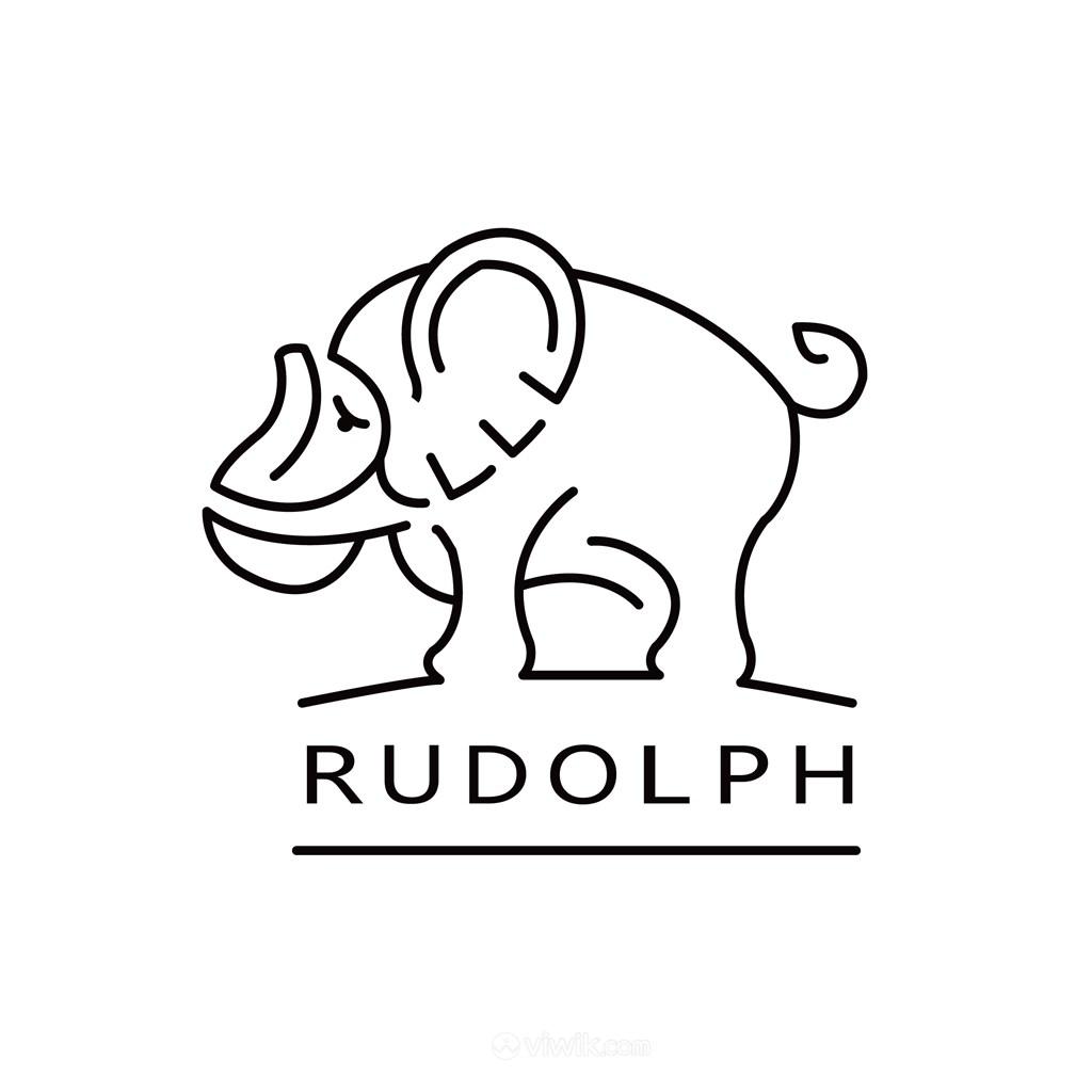 大象标志图标商务贸易矢量logo素材