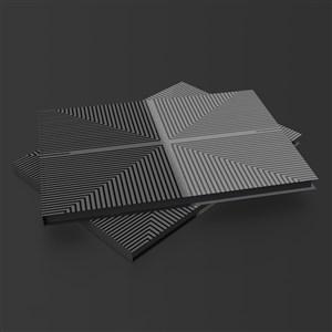 硬壳精装产品画册封面贴图样机