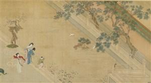 第十一幅汉宫春晓图江边绘画图片