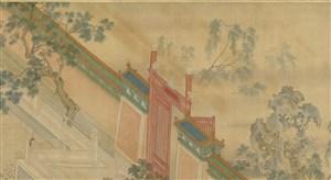 第十二幅汉宫春晓图墙门绘画图片
