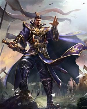 古代武将蔚蓝服饰将士战场绘画图片
