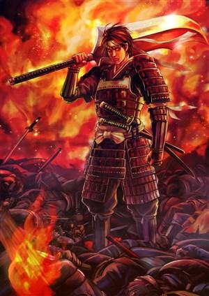 古代武将将军战场绘画图片