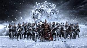 古代武将冰雪狼虎射箭弓箭战场绘画图片
