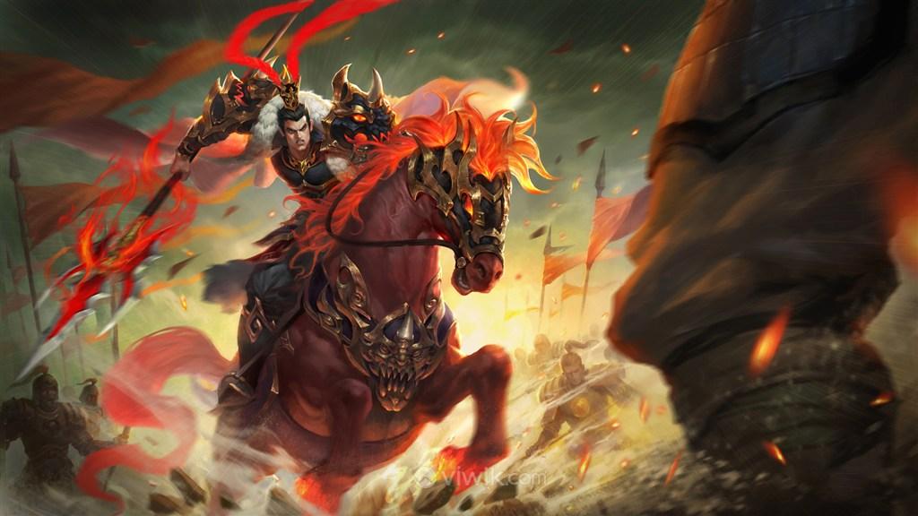 古代项羽武将骑马战驹战场绘画图片