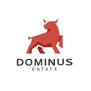 红色的牛标志图标矢量logo素材