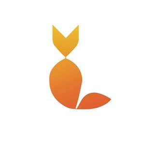鱼箭头标志图标矢量公司logo素材