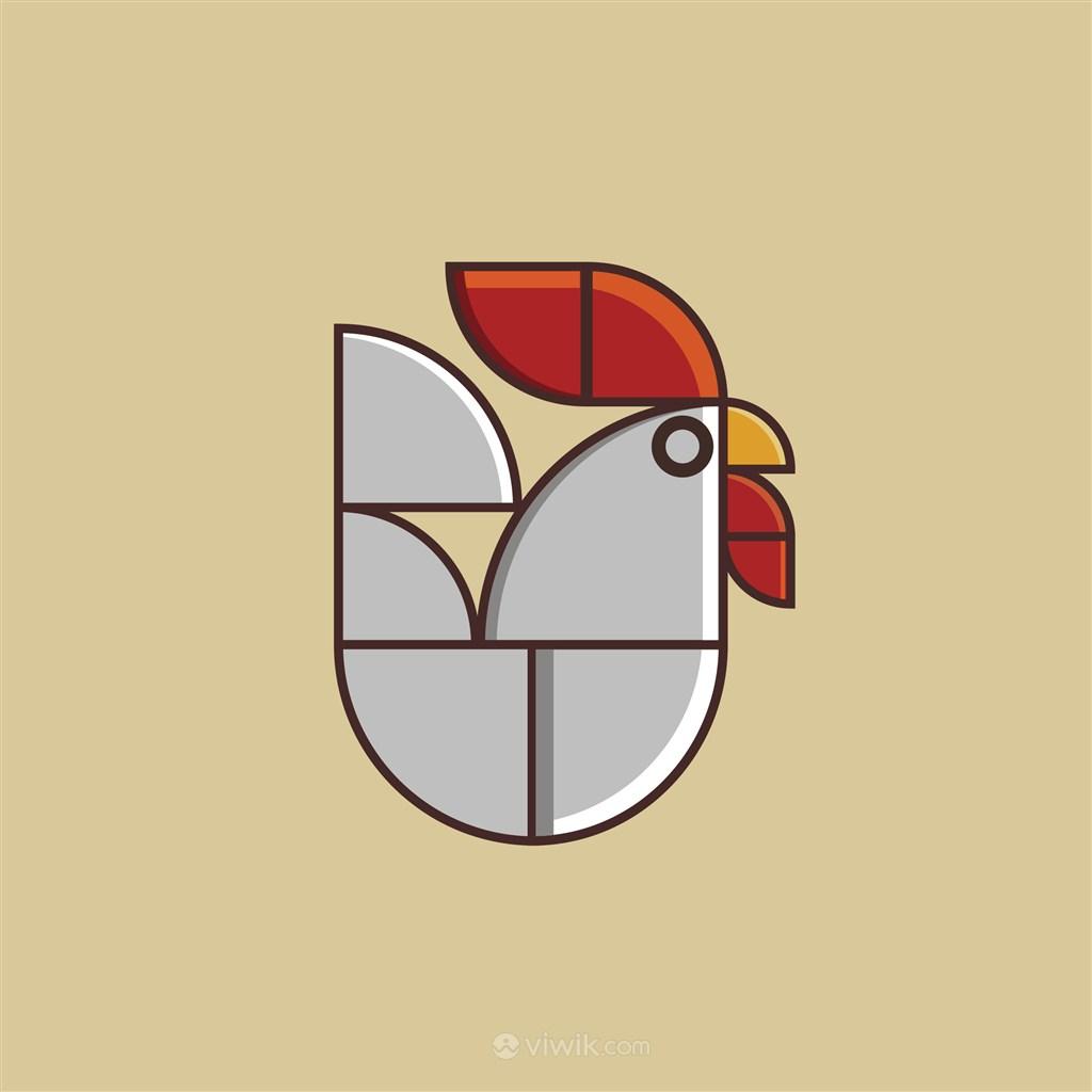 鸡标志图标食品矢量logo素材