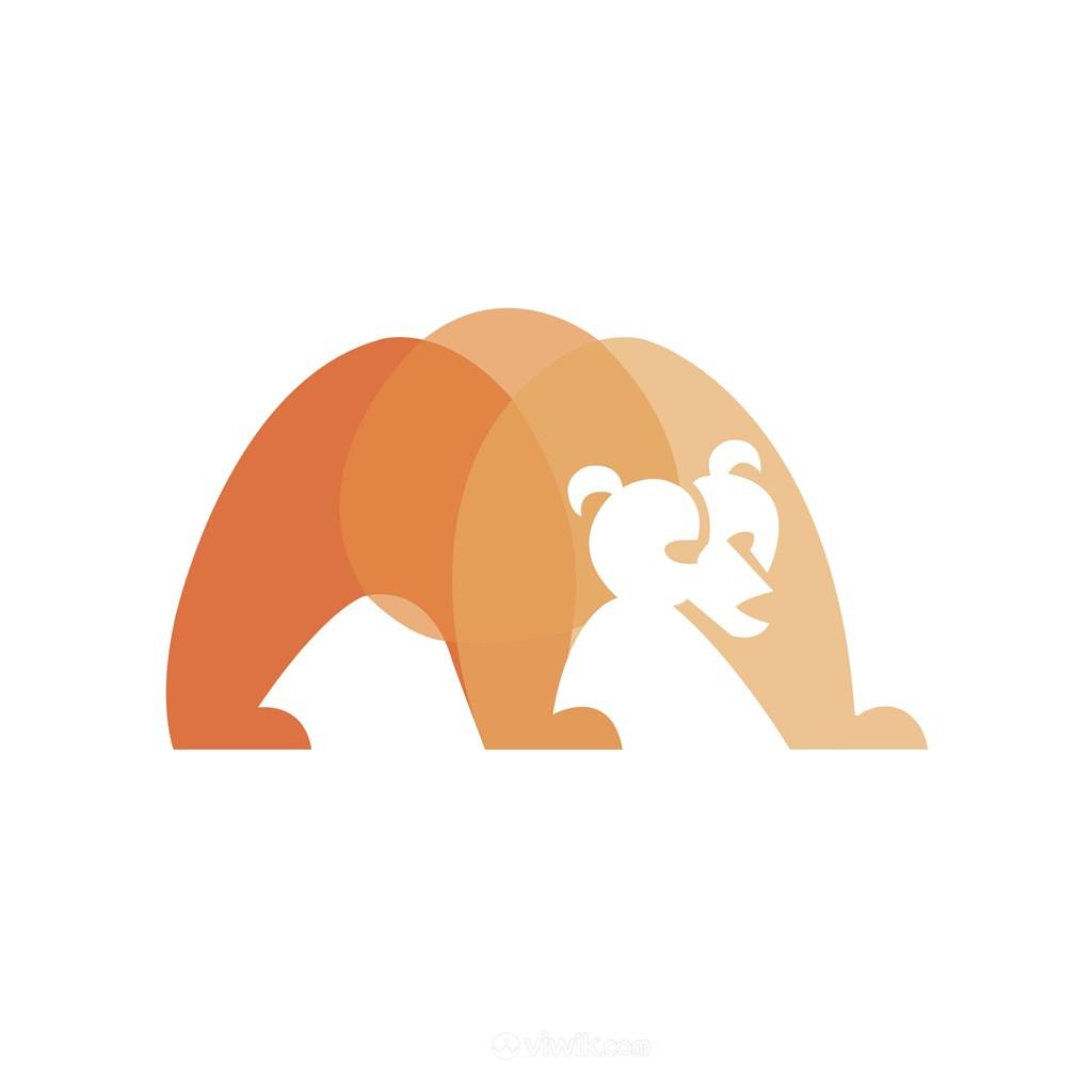 渐变熊标志图标公司矢量logo素材