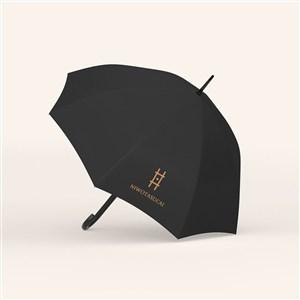 酒店宾馆VI雨伞贴图样机