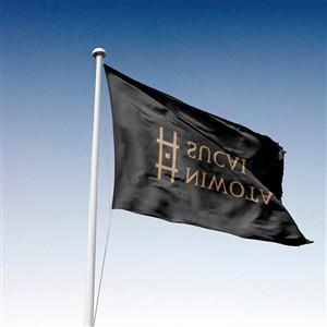 酒店宾馆VI旗帜样机