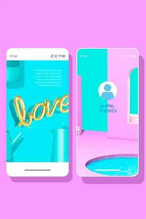 ins风糖果色时尚app广告设计