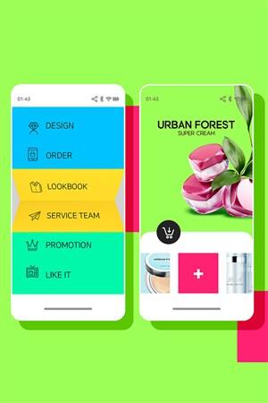 糖果色时尚app广告设计网站模板
