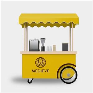 咖啡店vi街头咖啡车样机
