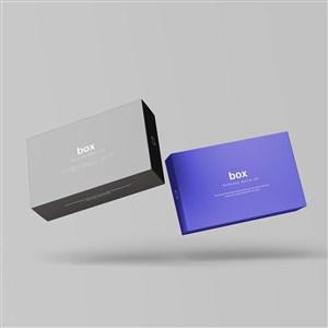 长方形纸盒包装设计样机