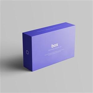 长方形纸盒包装设计贴图样机