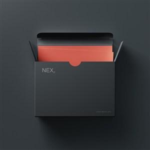 打开的黑色包装盒贴图样机