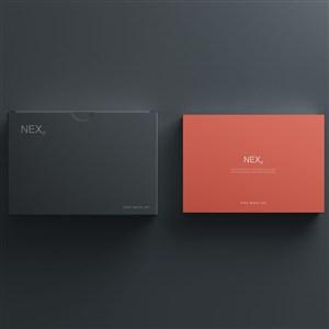 黑色盒子纸盒包装盒贴图样机