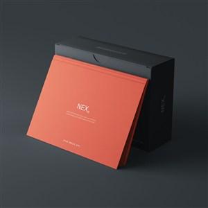 卡片黑色纸盒包装样机