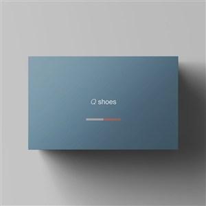顶视图纸盒鞋盒包装样机
