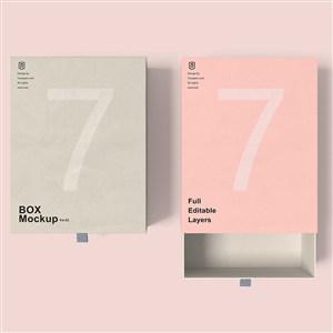 两个礼品纸盒包装样机