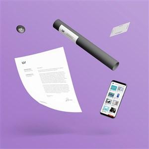 极简VI手机文档名片样机模板