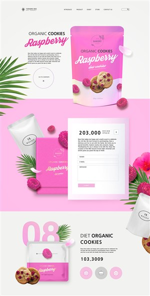 蓝莓草莓面膜保健品促销网页