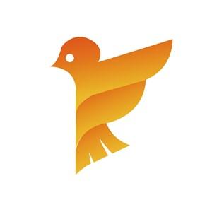 渐变鸟标志图标服装矢量logo素材