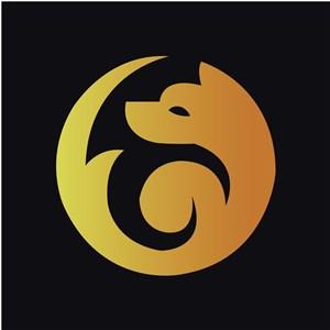 金色渐变狐狸标志图标矢量公司logo素材