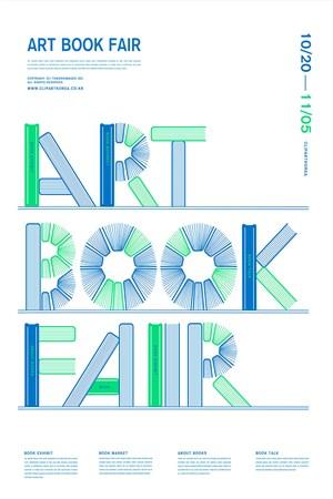 创意书本艺术英文字教育宣传海报模板
