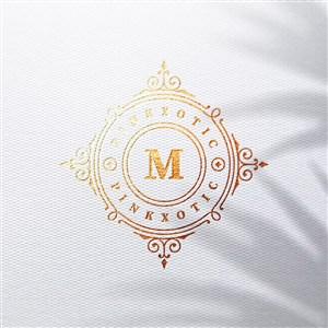 烫金logo企业标志贴图样机