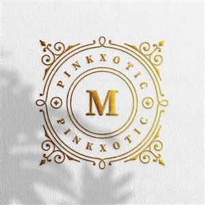 带光影效果的烫金logo贴图样机