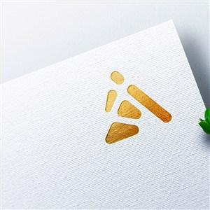 企业标志烫金logo样机